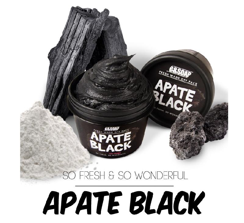 Очищающая маска для лица B&SOAP Fresh Wash Off Pack Apate Black