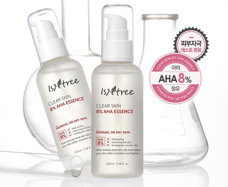 Отшелушивающая эссенция с AHA кислотами Isntree Clear Skin 8% AHA Essence