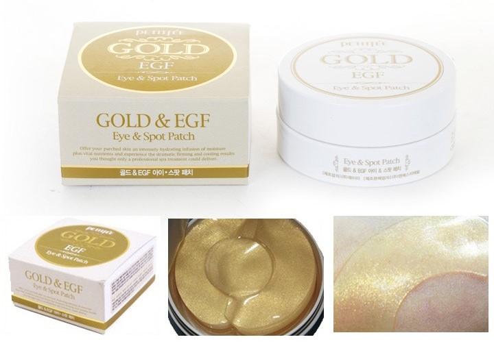Premium патчи для кожи вокруг глаз Petitfee Gold & EGF