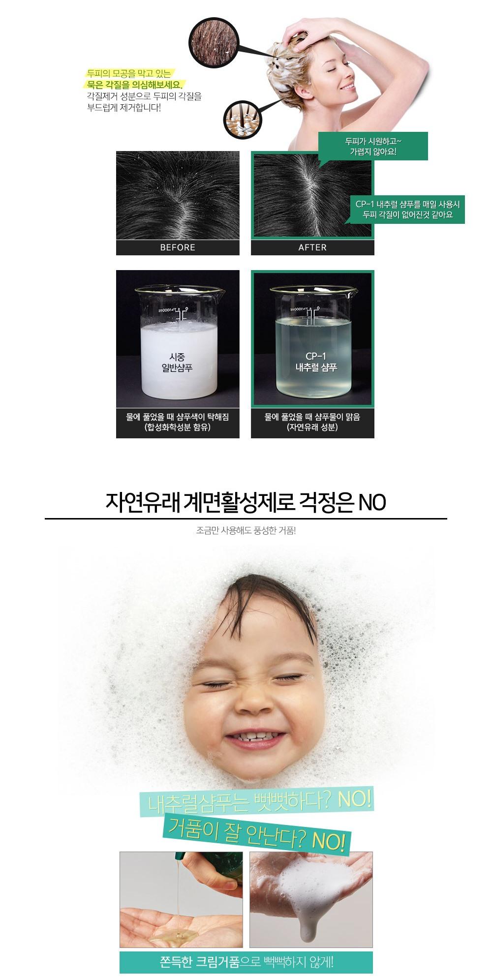 Натуральный увлажняющий шампунь для волос Esthetic House CP-1 Daily Moisture Natural Shampoo