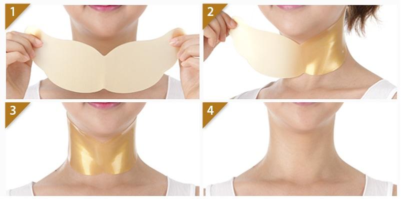 Гидрогелевая маска для шеи