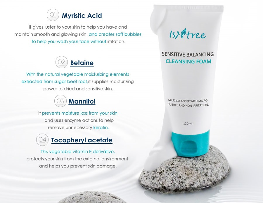 Isntree Sensitive Balancing Cleansing Foam