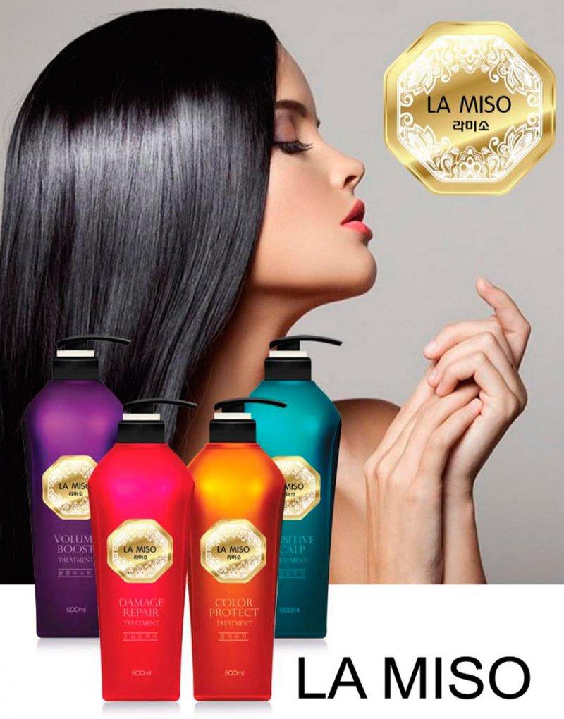 корейский шампунь для волос la miso