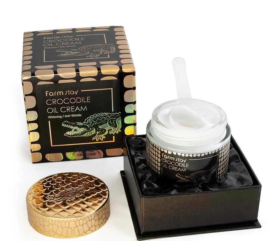 крем с крокодильим жиром FarmStay Crocodile Oil Cream
