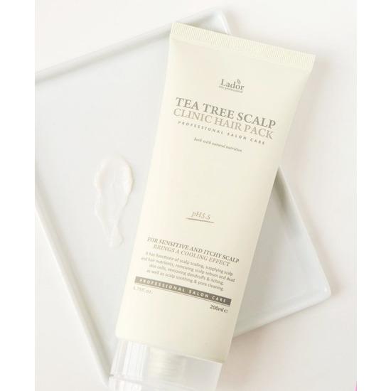 Маска-пилинг для очищения кожи головы с экстрактом чайного дерева Tea Tree Scalp Clinic Hair Pack Lador (фото, вид 1)