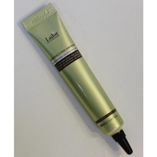 Восстанавливающая ночная сыворотка для волос с кератином Keratin Power Fill Up Sleeping Clinic Ample Lador (фото, вид 2)