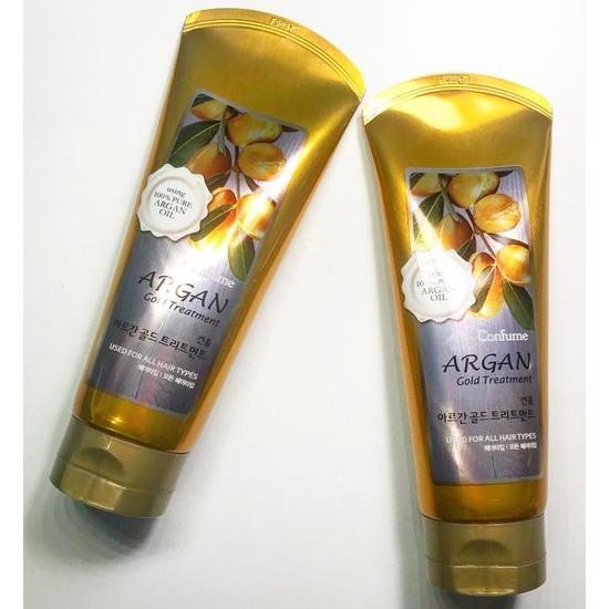 Маска для волос с аргановым маслом серии Gold Confume Argan Welcos (фото, вид 1)