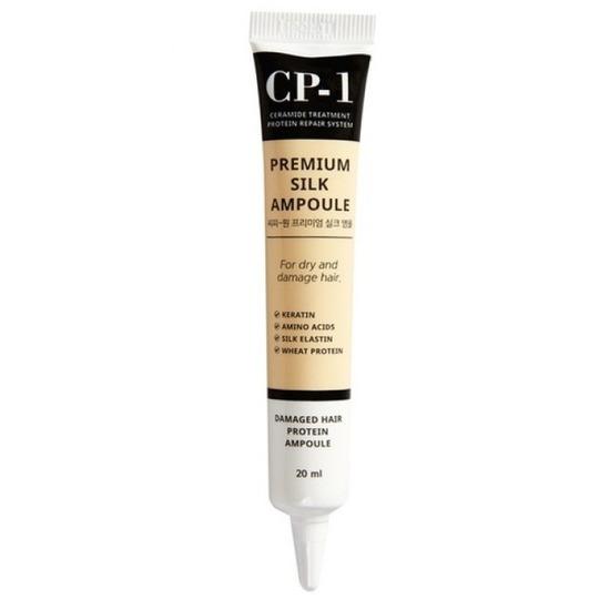 Несмываемая сыворотка для волос с протеинами шёлка CP-1 Premium Silk Ampoule Esthetic House (фото, вид 1)