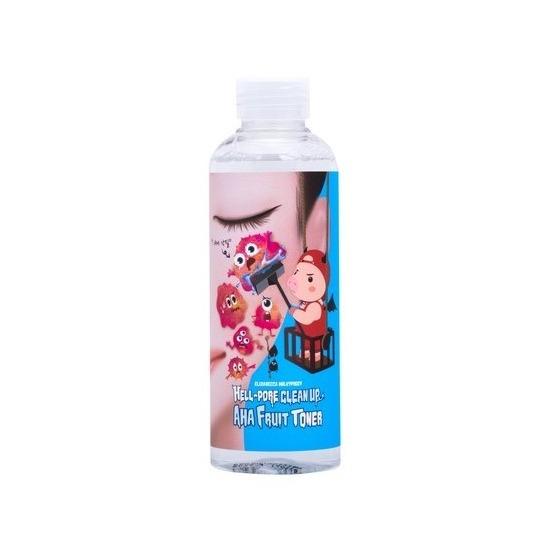 Очищающий тоник-пилинг для лица с фруктовыми кислотами Hell-Pore Clean Up AHA Fruit Toner Elizavecca (фото, вид 1)