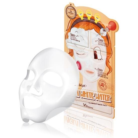 3-шаговая увлажняющая маска для лица 3-step Aqua White Water Mask Pack Elizavecca (фото, вид 1)