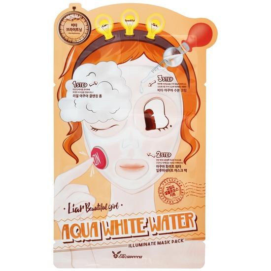 3-шаговая увлажняющая маска для лица 3-step Aqua White Water Mask Pack Elizavecca (фото, вид 2)