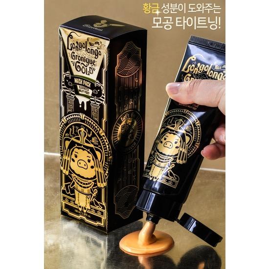 Маска-пленка с золотом Hell-Pore Longolongo Gronique Gold Mask Pack Elizavecca (фото, вид 2)