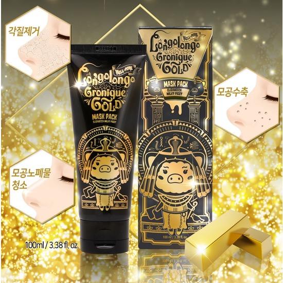 Маска-пленка с золотом Hell-Pore Longolongo Gronique Gold Mask Pack Elizavecca (фото, вид 3)