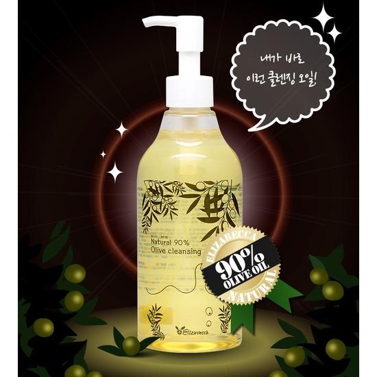 Гидрофильное масло с 90% содержанием натурального масла оливы Natural 90% Olive Cleansing Oil Elizavecca (фото, вид 1)
