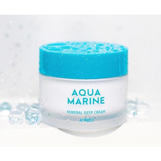 Глубокоувлажняющий минеральный крем Aqua Marine Mineral Deep Cream Apieu (фото, вид 3)