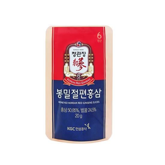 Корень корейского красного женьшеня в меду в виде слайсов (кусочков) Korean Red Ginseng Slices Cheong Kwan Jang (фото, вид 3)