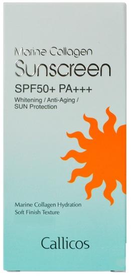 Осветляющий крем с морским коллагеном с солнцезащитным фактором SPF50+ PA+++ Callicos (фото, вид 1)