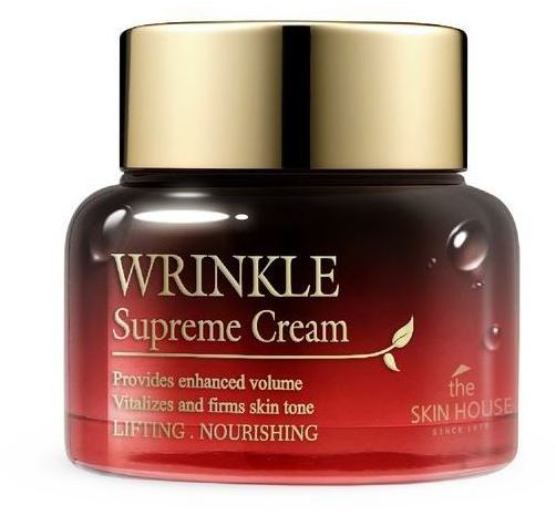 Питательный крем разглаживающий морщины с женьшенем Wrinkle Supreme The Skin House (фото, вид 2)