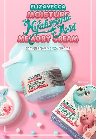 Увлажняющий крем для лица с гиалуроновой кислотой moisture hyaluronic acid memory cream Elizavecca (фото, вид 2)