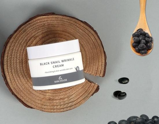Питательный крем с коллагеном и муцином чёрной улитки Black Snail Wrinkle Cream The Skin House (фото, вид 1)