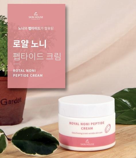 Укрепляющий крем с пептидами и экстрактом нони Royal Noni Peptide Cream The Skin House (фото, вид 2)
