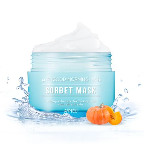 Увлажняющая утренняя маска-сорбет для лица Good Morning Sorbet Mask Apieu (фото, вид 1)