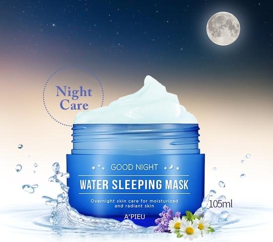Омолаживающая ночная маска для лица Good Night Water Sleeping Mask Apieu (фото, вид 2)