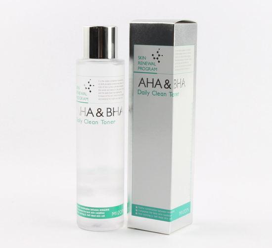 Тонер для лица с AHA и BHA кислотами Daily Clean Toner Mizon (фото, вид 1)