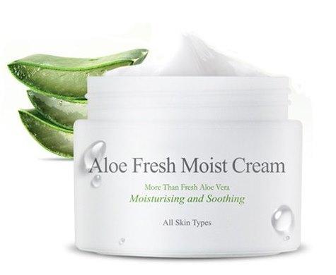 Увлажняющий крем для лица с экстрактом алоэ Aloe Fresh Moist Cream The Skin House (фото, вид 1)