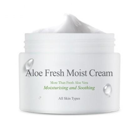 Увлажняющий крем для лица с экстрактом алоэ Aloe Fresh Moist Cream The Skin House (фото, вид 2)