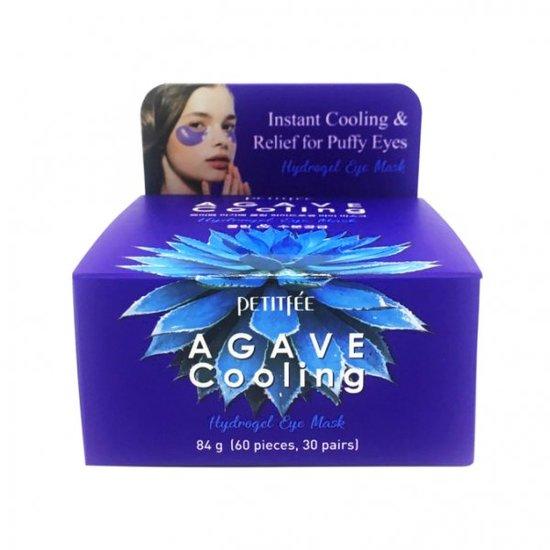 Гидрогелевые охлаждающие патчи для глаз с экстрактом агавы Agave Cooling Hydrogel Eye Mask Petitfee (фото, вид 1)