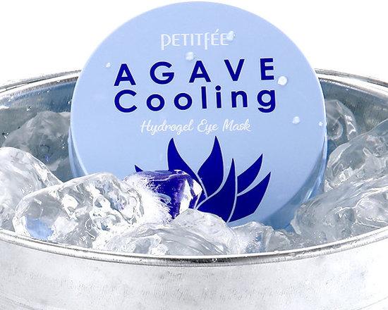 Гидрогелевые охлаждающие патчи для глаз с экстрактом агавы Agave Cooling Hydrogel Eye Mask Petitfee (фото, вид 3)