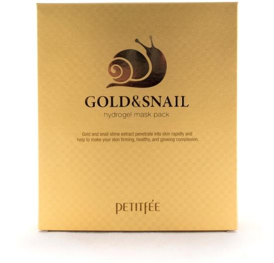 Гидрогелевая маска для лица с золотом и улиткой Gold and Snail Hydrogel Mask Pack Petitfee (фото, вид 2)