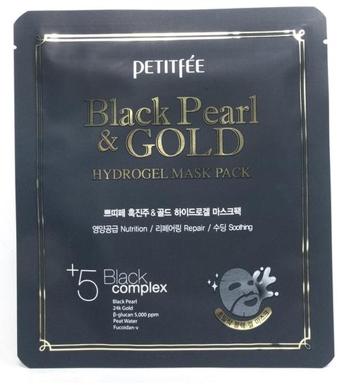 Гидрогелевая маска с золотом и черным жемчугом Petitfee (фото, вид 1)