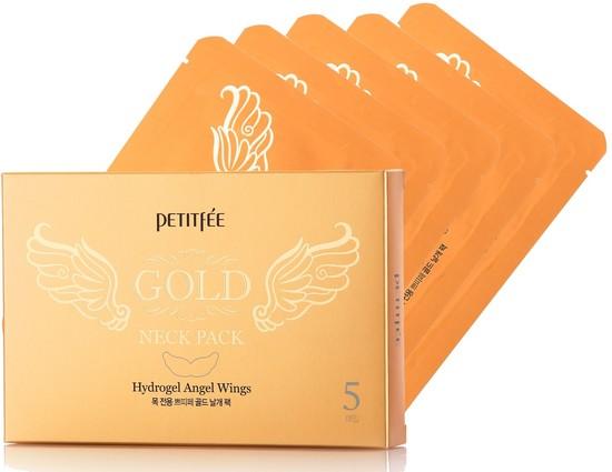 Гидрогелевая маска для шеи с золотыми частицами Petitfee Gold Neck Pack Petitfee (фото, вид 1)