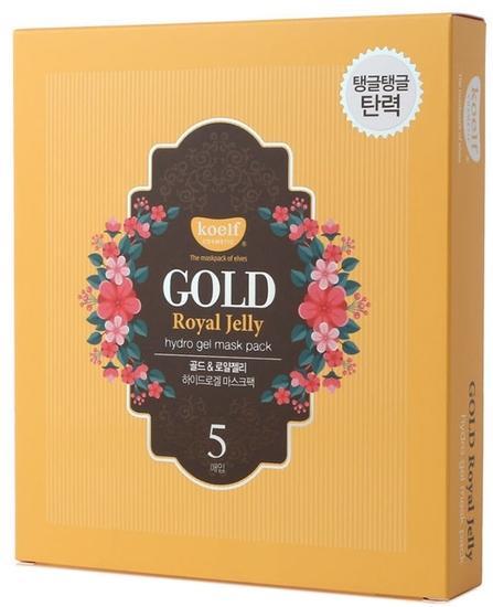 Гидрогелевая маска для лица с золотом и маточным молочком Gold Royal Jelly Hydrogel Mask Pack KOELF (фото, вид 1)