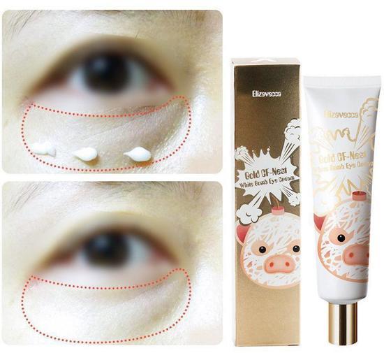 Крем для глаз с экстрактом ласточкиного гнезда Gold CF-Nest White Bomb Eye Cream Elizavecca (фото, вид 1)