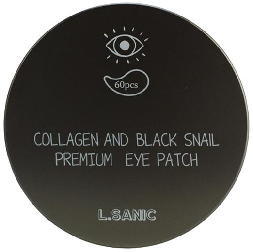Премиальные патчи под глаза с коллагеном и муцином черной улитки L'Sanic (фото, вид 1)