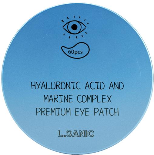 Премиальные патчи под глаза с гиалуроновой кислотой и экстрактом водорослей L'Sanic (фото, вид 2)