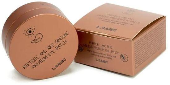 Премиальные патчи под глаза с пептидами и экстрактом красного женьшеня L'Sanic (фото, вид 1)