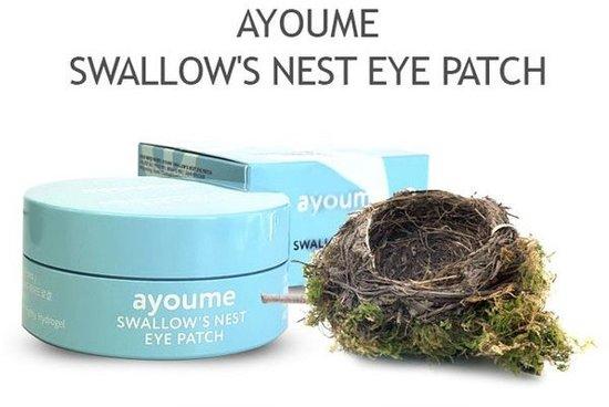 Подтягивающие патчи для глаз с экстрактом ласточкиного гнезда Ayoume (фото, патчи AYOUME SWALLOWS NEST EYE PATCH)