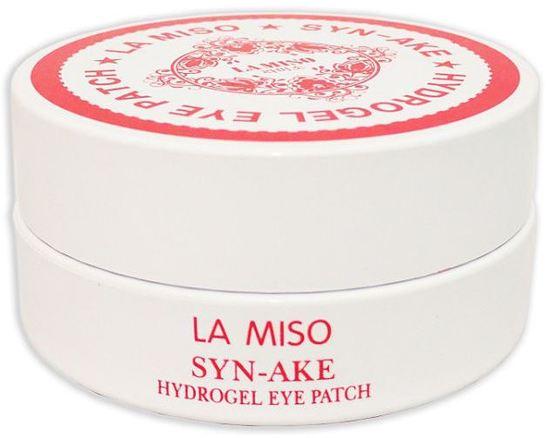 Гидрогелевые патчи для глаз с пептидом змеиного яда SYN-AKE La Miso (фото, патчи под глаза с змеиным ядом ламисо)