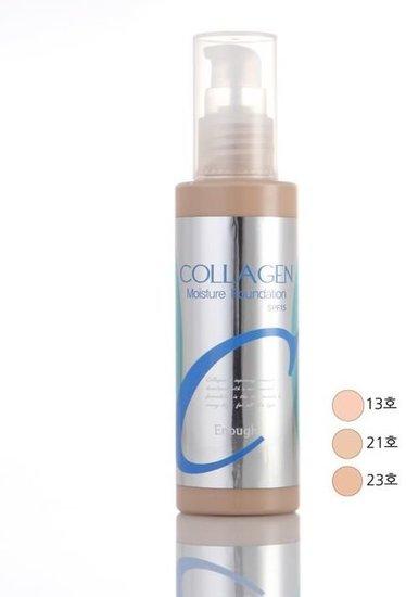 Тональный крем для лица с коллагеном Collagen Moisture Foundation SPF 15 Enough (фото, тональная основа крем)