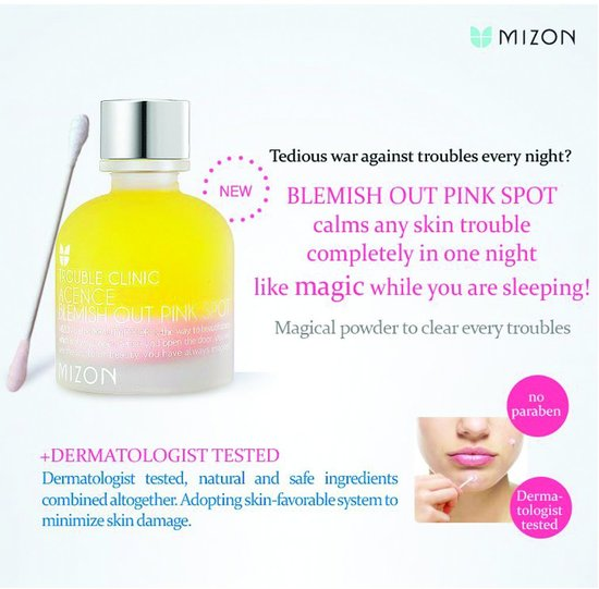 Средство для лечения акне и воспалений Mizon (фото, Mizon Acence Blemish Out Pink Spot)