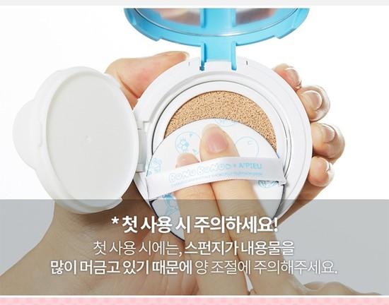Воздушный тональный кушон для макияжа в наборе Apieu (фото, вид 2)