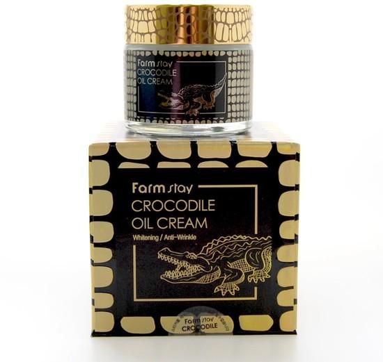 Питательный крем для увядающей кожи лица с крокодильим жиром FarmStay (фото, вид 1)