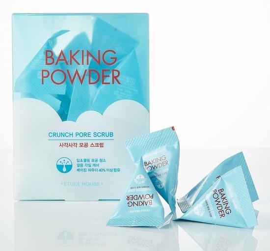 Скраб в пирамидках для очищения кожи лица с содой Baking Powder Crunch Pore Scrub Etude House (фото, вид 3)