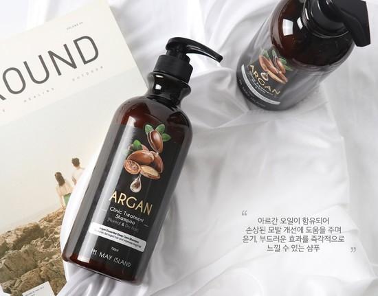Восстанавливающий шампунь для волос с аргановым маслом May Island (фото, вид 1)