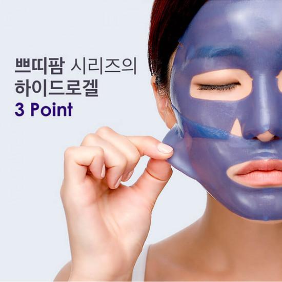 Охлаждающая гидрогелевая маска для лица с экстрактом агавы Petitfee (фото, вид 1)