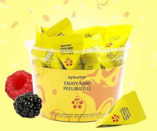 Пилинг-гель для лица в пирамиках с фруктовыми кислотами Enjoy Mini Peeling Gel Ayoume (фото, вид 1)